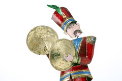 Toy Soldier Cymbal Player Isolated White Stock Photo