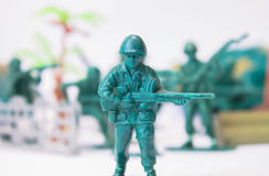 Toy soldier leader Royalty Free Stock Photography
