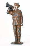 Toy soldier - A major with trumpet frontal shot Stock Photography