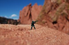 Toy Soldier out In Nature Stock Image