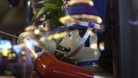 A toy soldier playing the trumpet in celebration of the year end holidays.  stock video