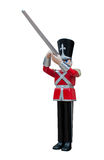 Toy Soldier Rifleman. In red British uniform Royalty Free Stock Photo