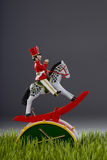 Toy Soldier on Green Grass. Stock Images