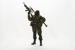 Toy man Action figure authentic silk soldier 1/6 scale Stock Photo