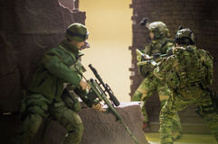 Toy 1/6 scale soldier authentic silk Stock Photo