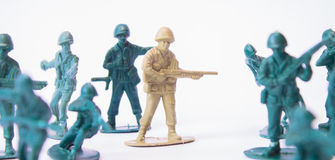 Toy soldier - Spy among us Royalty Free Stock Image