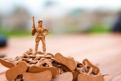 Toy Soldier victorioso Foto de archivo libre de regalías