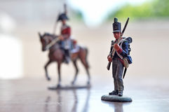 Toy soldiers. Nineteen century toy soldiers figures infantry and cavalry Stock Photography