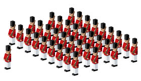 Toy soldiers. An illustration of an army of toy soldiers Royalty Free Stock Photos