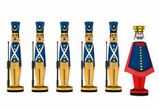 Toy Soldiers vector illustration