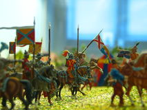 Toy Soldiers. Closeup of toy soldiers royalty free stock photos