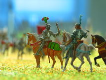 Toy Soldiers. Closeup of toy soldiers Stock Image