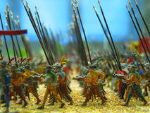 Toy Soldiers. Closeup of rows of toy soldiers Stock Images