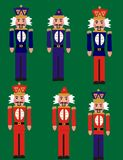 Toy soldiers. Standing at attention from the Nutcracker suite, by Tchaikovsky Stock Photos