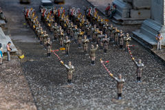 Toy soldiers. Toy army toy soldiers, game royalty free stock photo
