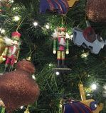 Toy soldiers on a Christmas tree Royalty Free Stock Photo