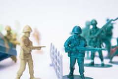 Toy soldiers - Enemies Royalty Free Stock Photography