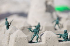Toy soldiers guarding Royalty Free Stock Photo