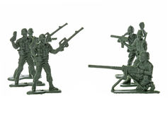 Toy Soldiers Isolated Stock Image