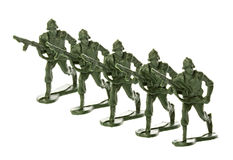 Toy Soldiers Isolated Royalty Free Stock Photos