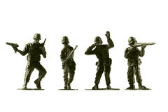 Toy soldiers, isolated on white background Royalty Free Stock Photography