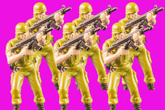 Toy soldiers of navy seals Royalty Free Stock Image