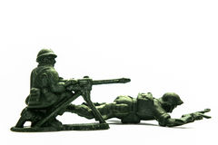 Toy soldiers over white Royalty Free Stock Photography