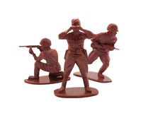 Toy soldiers posing Stock Photo