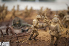 A toy soldiers scene of First World War Royalty Free Stock Photo