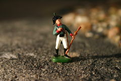Toy soldiers Stock Images