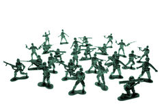 Toy soldiers on white Stock Image