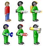 Toy soldiers on white background, rendered Stock Photography