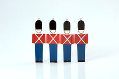 Toy soliders in a row, royal guard Stock Image