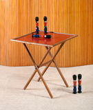 Toy Soliders with Small Retro Folding Table Stock Photography