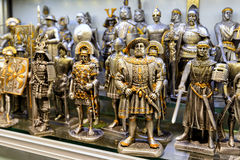 Toy souvenir Knights in the Grand Bazaar, Istanbul Royalty Free Stock Image