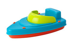 Toy Speedboat (clipping path) Stock Image