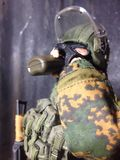 Toy Spetsnaz in Degestan. A military model scale1/6 12nice Royalty Free Stock Photo