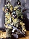 Toy Spetsnaz en sex krigarebeskickning i Dagestan Arkivbilder