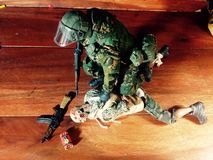 Toy Spetsnaz figure 1/. A military model scale1/6 12nice Stock Image