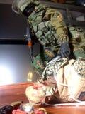 Toy Spetsnaz militär modell Royaltyfri Fotografi
