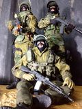 Toy Spetsnaz one six warrior mission in Dagestan. A military model scale1/6 12nice Stock Images