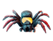 Toy spider. Close-up shot of a toy spider isolated on white Royalty Free Stock Images