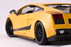 Toy sport car. On a white background Royalty Free Stock Photo