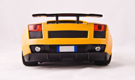 Toy sport car. On a white background Royalty Free Stock Photos