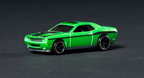 Toy sport car. On a black background Stock Image