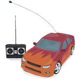 Toy sport Car with Remote Control. Vector royalty free illustration