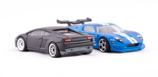 Toy sport cars. On a white background Stock Images