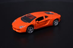 Toy sports car isolated Stock Images
