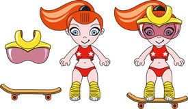 Toy sporty girl Stock Photo