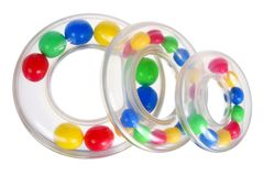 Toy Stacking Rings Lizenzfreie Stockbilder